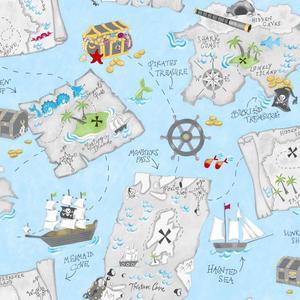 Pirate Map Wallpaper YS9296
