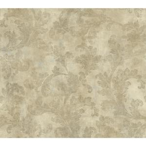 Raised Leaf Velvet V Wallpaper AW7583