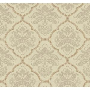 Framed Damask Wallpaper GF0726
