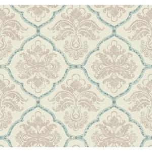 Framed Damask Wallpaper GF0728