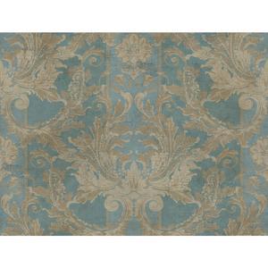 Aida Damask W/Stripe Wallpaper GF0789