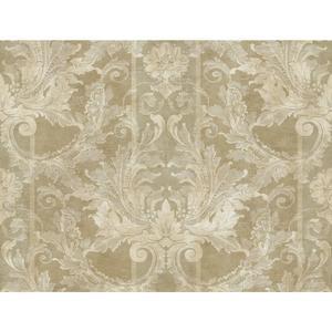 Aida Damask W/Stripe Wallpaper GL4724