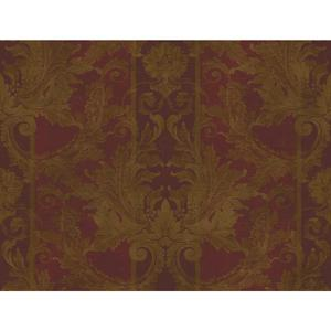 Aida Damask W/Stripe Wallpaper GL4727