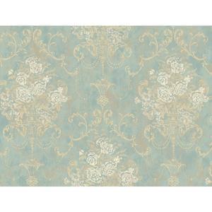 Floral Urn Wallpaper VR3465
