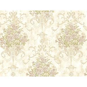 Floral Urn Wallpaper VR3466