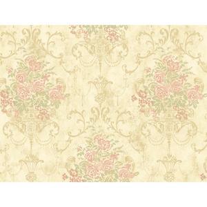 Floral Urn Wallpaper VR3468
