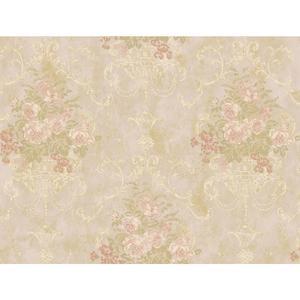 Floral Urn Wallpaper VR3472