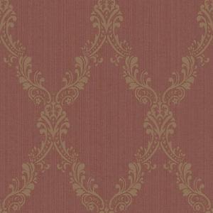 Fabric Damask Frame Wallpaper FD8440
