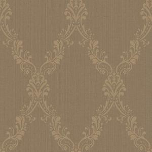Fabric Damask Frame Wallpaper FD8444