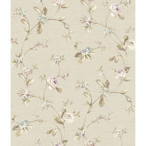 Ornamental Floral Trail Wallpaper FD8478
