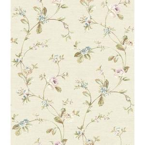 Ornamental Floral Trail Wallpaper FD8482