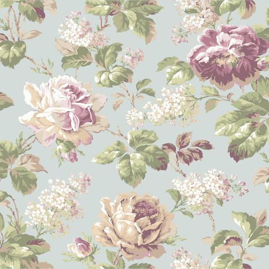 Rose Floral Wallpaper FD8496