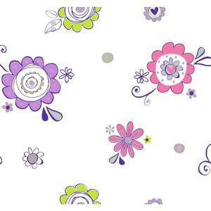 Doodlerific Floral S Wallpaper BS5427