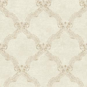 Framed Damask Wallpaper JR5765