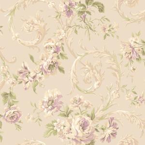 Rococco Floral Wallpaper EM3880