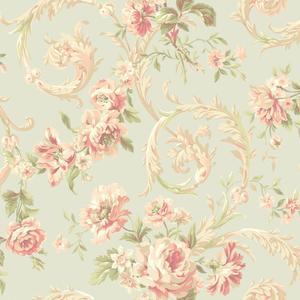 Rococco Floral Wallpaper EM3881