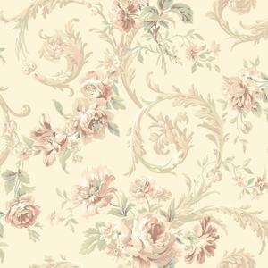 Rococco Floral Wallpaper EM3882