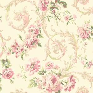 Rococco Floral Wallpaper EM3884
