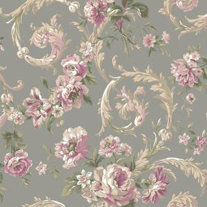 Rococco Floral Wallpaper EM3885