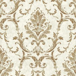 Neoclassical Damask Wallpaper BQ3811