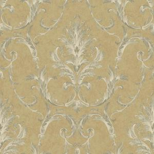 Neoclassical Damask Wallpaper BQ3813