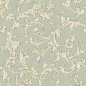 Embroidered Scroll Wallpaper BQ3818