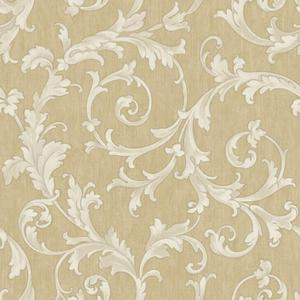 Embroidered Scroll Wallpaper BQ3819