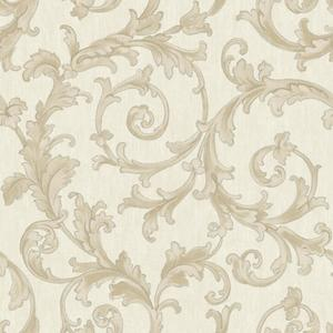 Embroidered Scroll Wallpaper BQ3820