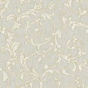 Embroidered Scroll Wallpaper BQ3821