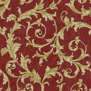 Embroidered Scroll Wallpaper BQ3822