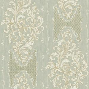 Embroidered Damask Wallpaper BQ3827