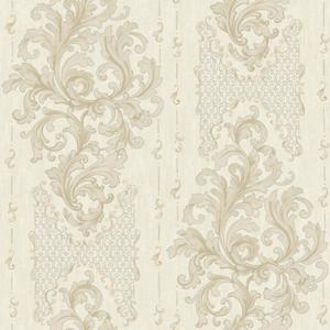 Embroidered Damask Wallpaper BQ3829