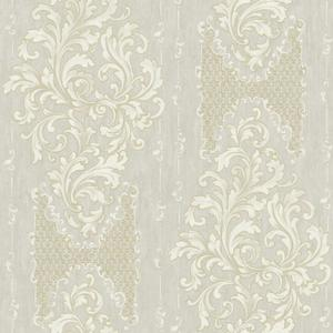 Embroidered Damask Wallpaper BQ3830