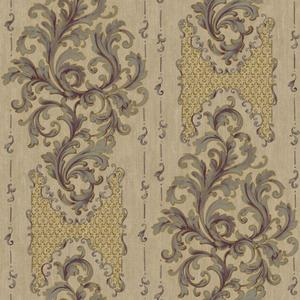 Embroidered Damask Wallpaper BQ3832