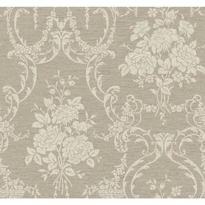 Neoclassical Rose Damask Wallpaper BQ3854
