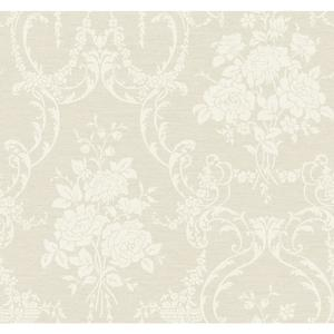 Neoclassical Rose Damask Wallpaper BQ3855