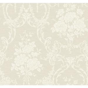 Neoclassical Rose Damask Wallpaper BQ3855