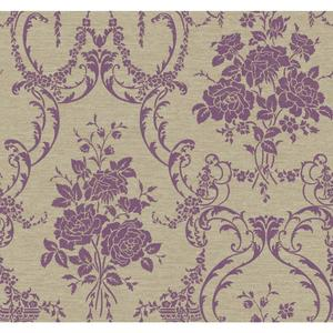 Neoclassical Rose Damask Wallpaper BQ3856