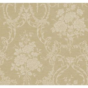 Neoclassical Rose Damask Wallpaper BQ3857