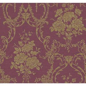 Neoclassical Rose Damask Wallpaper BQ3858