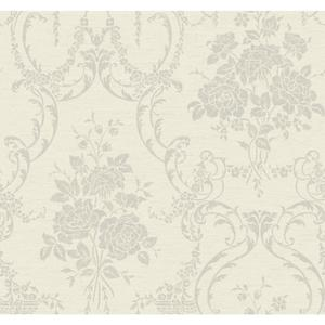 Neoclassical Rose Damask Wallpaper BQ3859