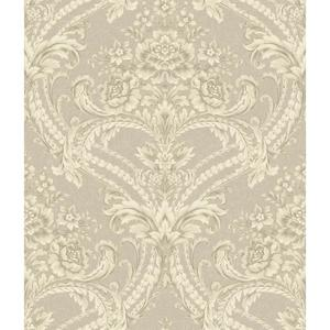 Baroque Floral Damask Wallpaper BQ3891