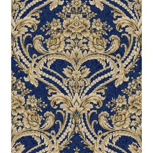 Baroque Floral Damask Wallpaper BQ3892