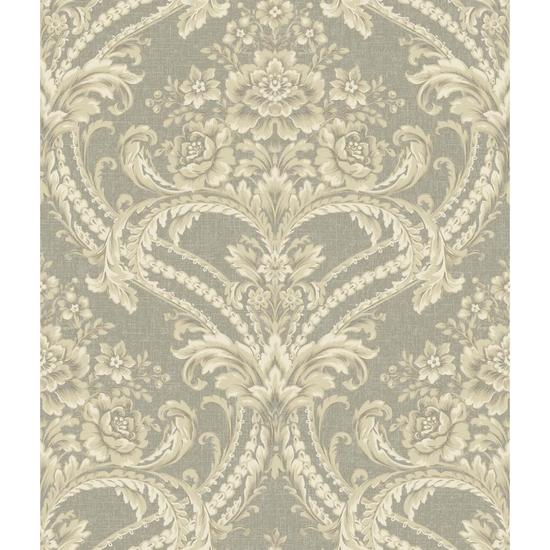 Baroque Floral Damask Wallpaper BQ3894
