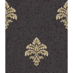 Baroque Medallion Fleur De Lis Wallpaper BQ3899