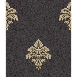 Baroque Medallion Fleur De Lis Wallpaper BQ3899