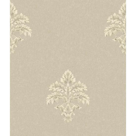 Baroque Medallion Fleur De Lis Wallpaper BQ3900
