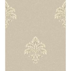 Baroque Medallion Fleur De Lis Wallpaper BQ3900