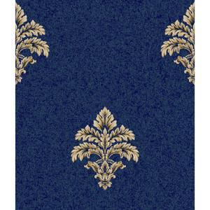 Baroque Medallion Fleur De Lis Wallpaper BQ3901