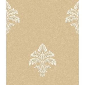 Baroque Medallion Fleur De Lis Wallpaper BQ3902
